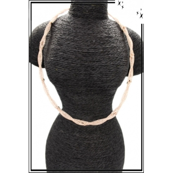 Collier - Nylon - Perle - Cuivré