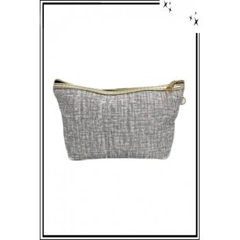 Trousse de sac à main - Paillettes - Quadrillé - Argent