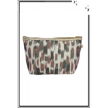 Trousse de sac à main - Paillettes - Motifs divers - Rouille / Kaki