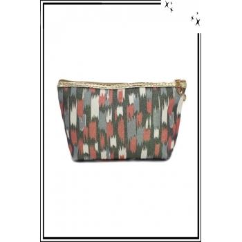 Trousse de sac à main - Paillettes - Motifs divers - Rouille / Gris