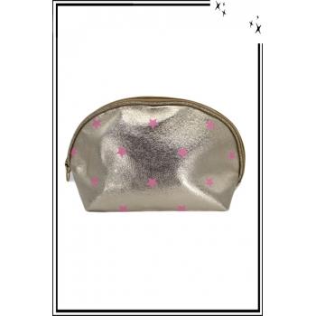 Trousse de sac à main - Doré - Etoiles roses