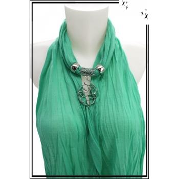 Foulard-bijoux - Vert menthe - Forme diverse