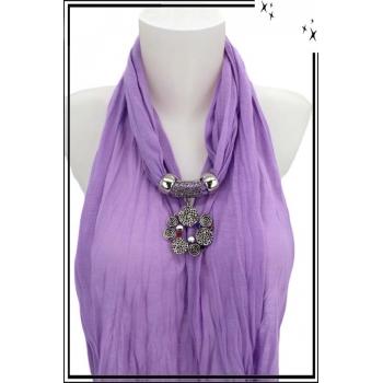 Foulard-bijoux - Parme - Bijoux ethnique - Multicolor + BIJOUX DORÉ OFFERT