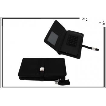 Portefeuille - Multi-compartiments - Ventouse pour portable - Fashion - Noir