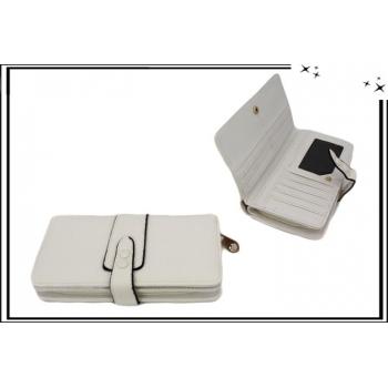 Portefeuille - Multi-compartiments - Double pression - Blanc