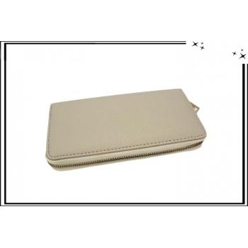 Porte-monnaie - Multi-compartiments - Crème