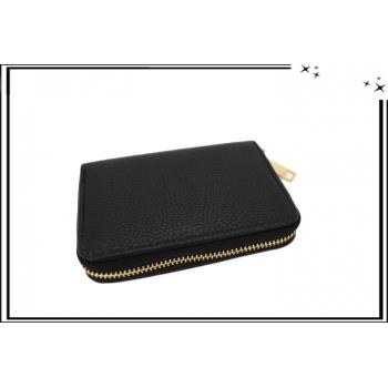 Porte-monnaie - Petit format - Multi-compartiments - Noir