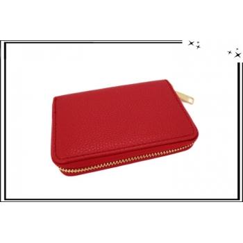 Porte-monnaie - Petit format - Multi-compartiments - Rouge