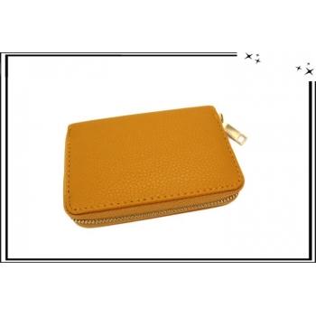 Porte-monnaie - Petit format - Multi-compartiments - Moutarde
