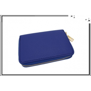 Porte-monnaie - Petit format - Multi-compartiments - Bleu roi