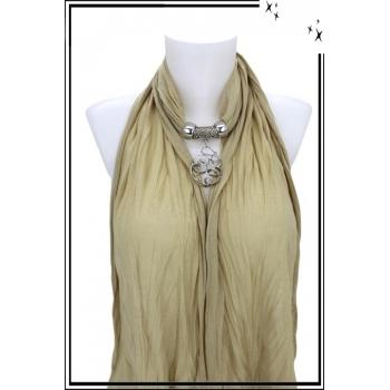 Foulard-bijoux - Beige - Forme diverse + BIJOUX DORÉ OFFERT