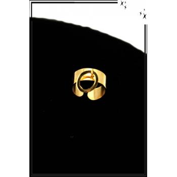 Bague - Réglable - Médaille - Doré