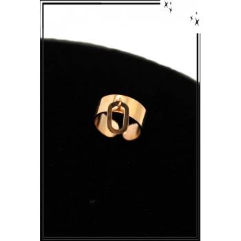 Bague - Réglable - Médaille ovale - Cuivré