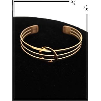 Bracelet - Réglable - 3 rangs - Rond - Cuivré