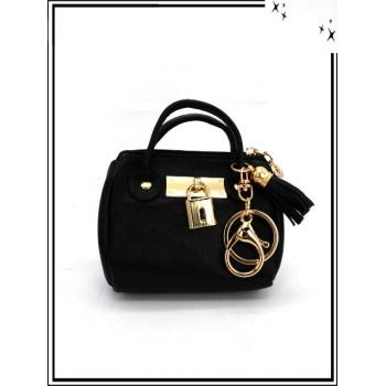 Porte-monnaie - Porte-clé - Petit sac - Lisse - Noir