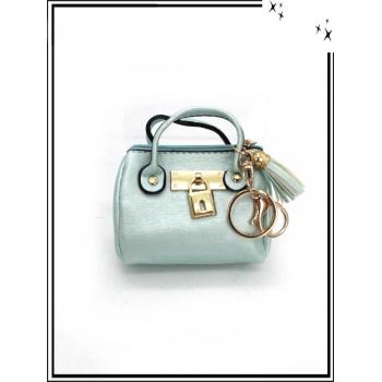 Porte-monnaie - Porte-clé - Petit sac - Lisse - Vert d'eau