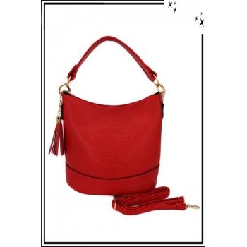 Sac à main - Seau - Vintage - Rouge