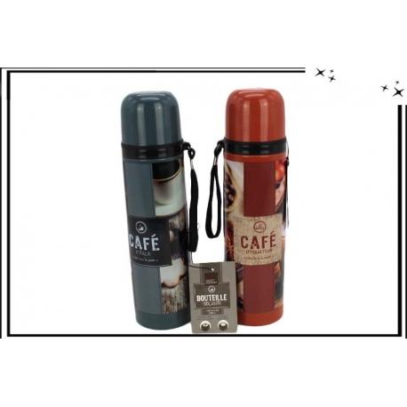 2 Thermos - Café - Rouge / Gris