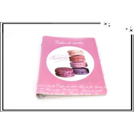 Cahier de recettes - Macarons - Rose