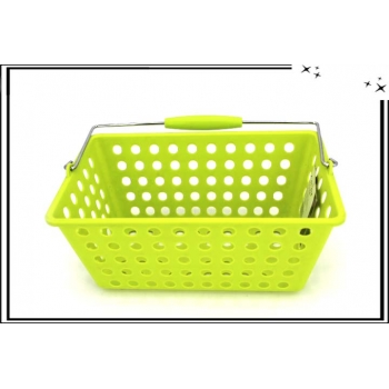 Panière en plastique - Vert anis