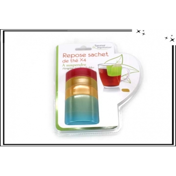 Lot de 4 repose sachet de thé