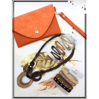 Cocco Box - Pochette écailles - Orange