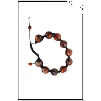 Bracelet Chakra - Pierres naturelles - Brique