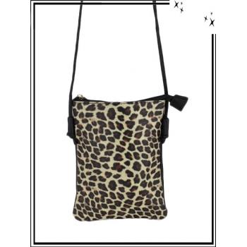 Pochette - Impression léopard - Beige