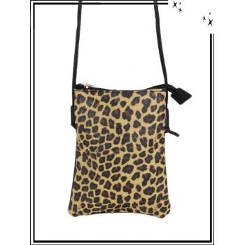 Pochette - Impression léopard - Gold