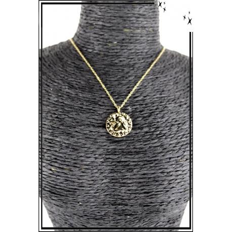Collier - Médaille angelot - Doré