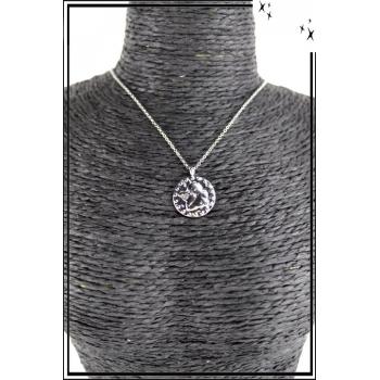 Collier - Médaille angelot - Argenté