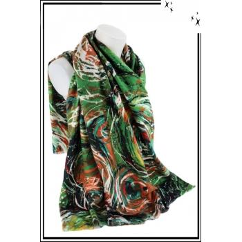 Foulard - Motif abstrait - Vert