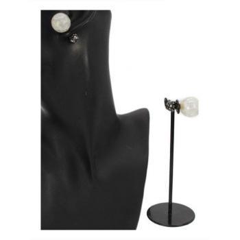 Boucle d'oreille - Façon piercing  - Blanc / Noir
