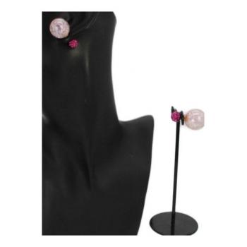 Boucle d'oreille - Façon piercing  - Violet / Rose