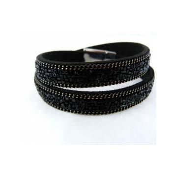Bracelet - Double tour - Perles - Noir
