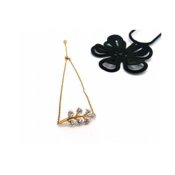 Bracelet Jonc - Petite branche - Strass - Doré
