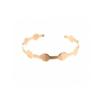 Bracelet jonc - Petits ronds - Rose cuivré