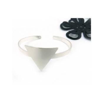 Bracelet Jonc - Triangle - Argent
