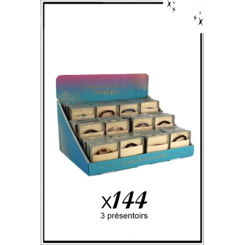 Bracelets vertus - Pierres naturelles - 3 présentoirs - x 144 pièces