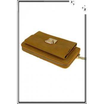 Porte monnaie - Boucle dorée - Moutarde