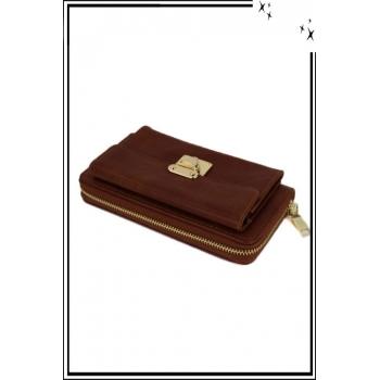 Porte monnaie - Boucle dorée - Camel
