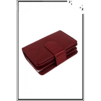 Porte monnaie - Petit modèle - Aspect croco - Rouge