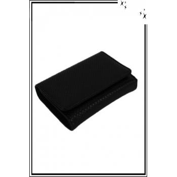 Porte monnaie - Petit modèle - Aspect python - Noir