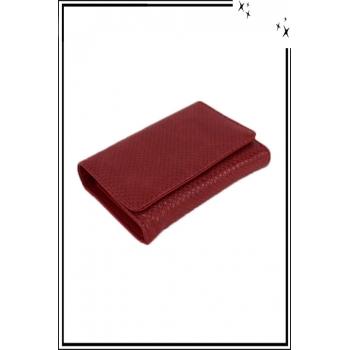 Porte monnaie - Petit modèle - Aspect python - Rouge