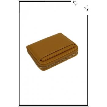 Porte monnaie - Petit modèle zippé - Moutarde