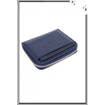 Porte monnaie - Petit modèle zippé - Bleu marine
