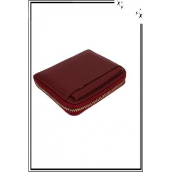 Porte monnaie - Petit modèle zippé - Rouge