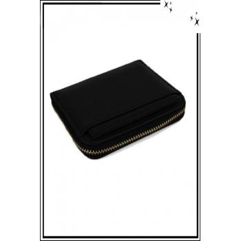 Porte monnaie - Petit modèle zippé - Noir