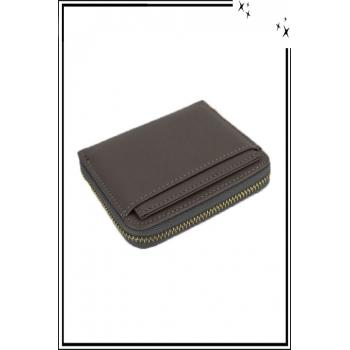 Porte monnaie - Petit modèle zippé - Gris
