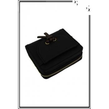 Porte monnaie - Petit modèle - Noeud sur le devant - Noir